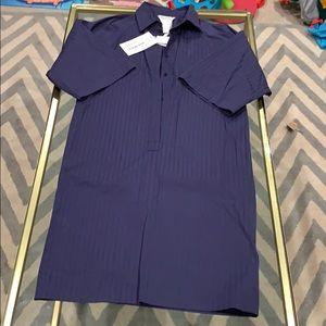 MaxMara navy blue dress with pleated back
